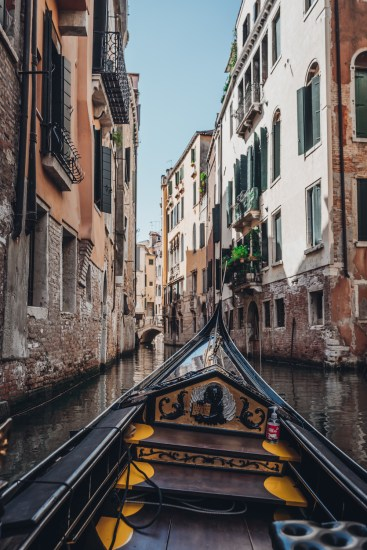 gondola ride in venice canal