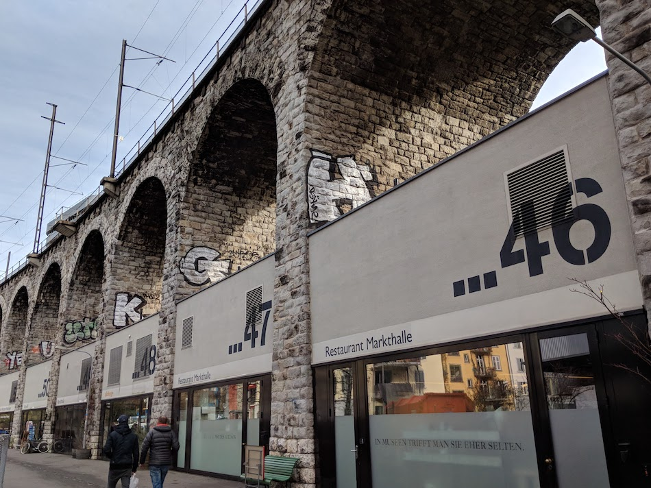 Zurich aqueduct hipster shopping