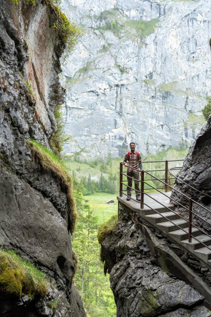 Trümmelbachfälle waterfall in Lauterbrunnen Switzerland