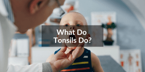 child with tonsils