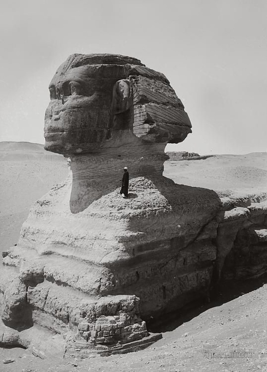Profile view of Sphinx Giza Egypt 1900-1920. Image Credit: Photographium Historic Photo Archive