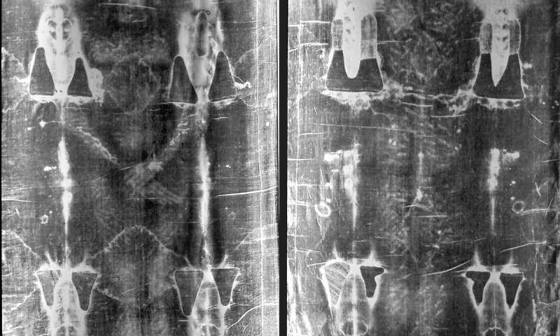 Full length negatives of the shroud. Credit: Public Domain