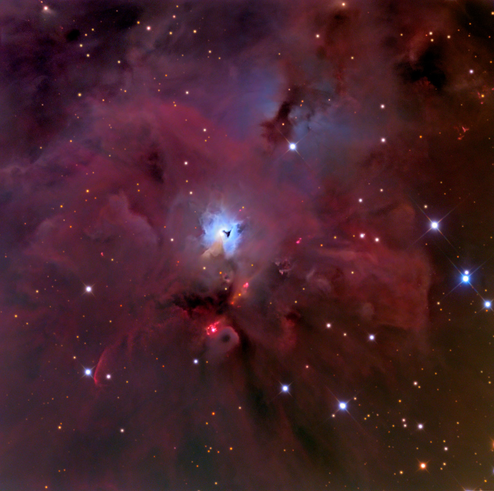 The overall nebula with smaller hole shown in context. Image Credit: Wikimedia Commons.