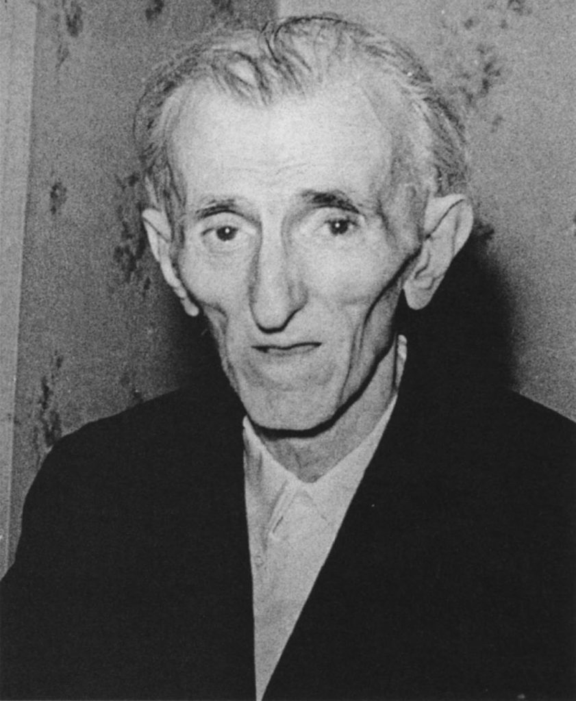This is believed to be the last image of Nikola Tesla photographed in 1943.
