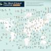 El mapa con las localizaciones más repetidas en series y películas… en todo el mundo