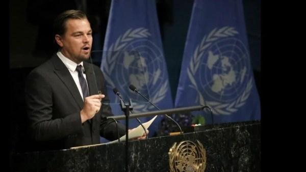 Leonardo Di Caprio, Climate Change speech at UN