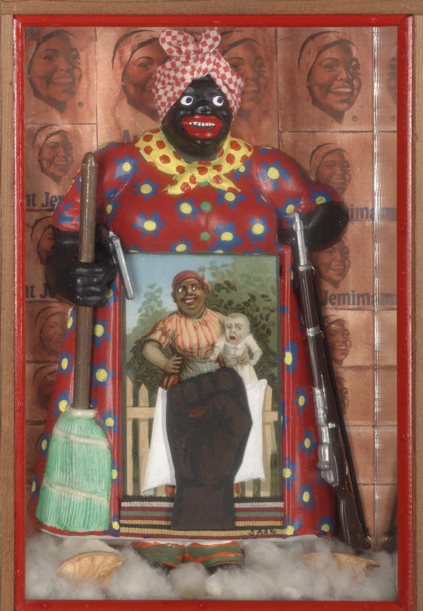 aunt jemima kitchen curtains discount lighting betye saar we constantly have to be reminded that racism