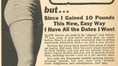 Photo of Vintage Advertisements for Weight Gain