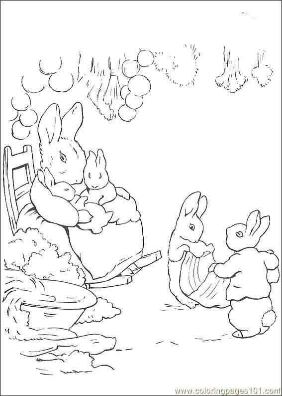 Peter Rabbit Coloring Pages Free Robertdee.org