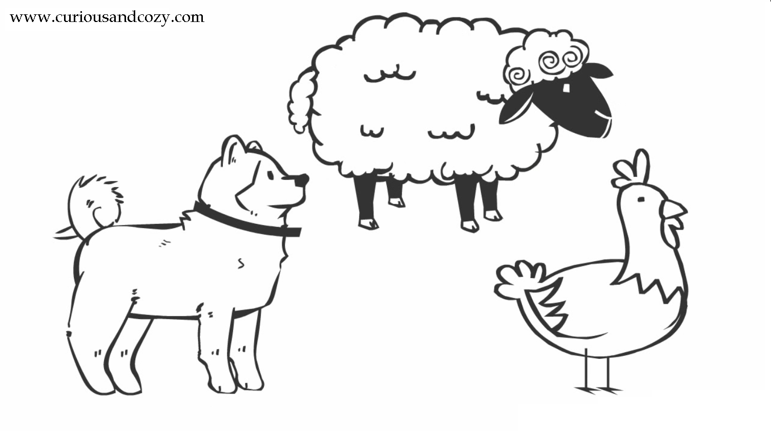 Little Red Hen Puppets Coloring Pages