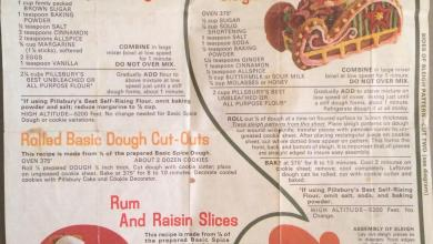 Photo of Vintage Cookies: Pillsbury Gingerbread Sleigh and Cookies Flyer from the 1970s
