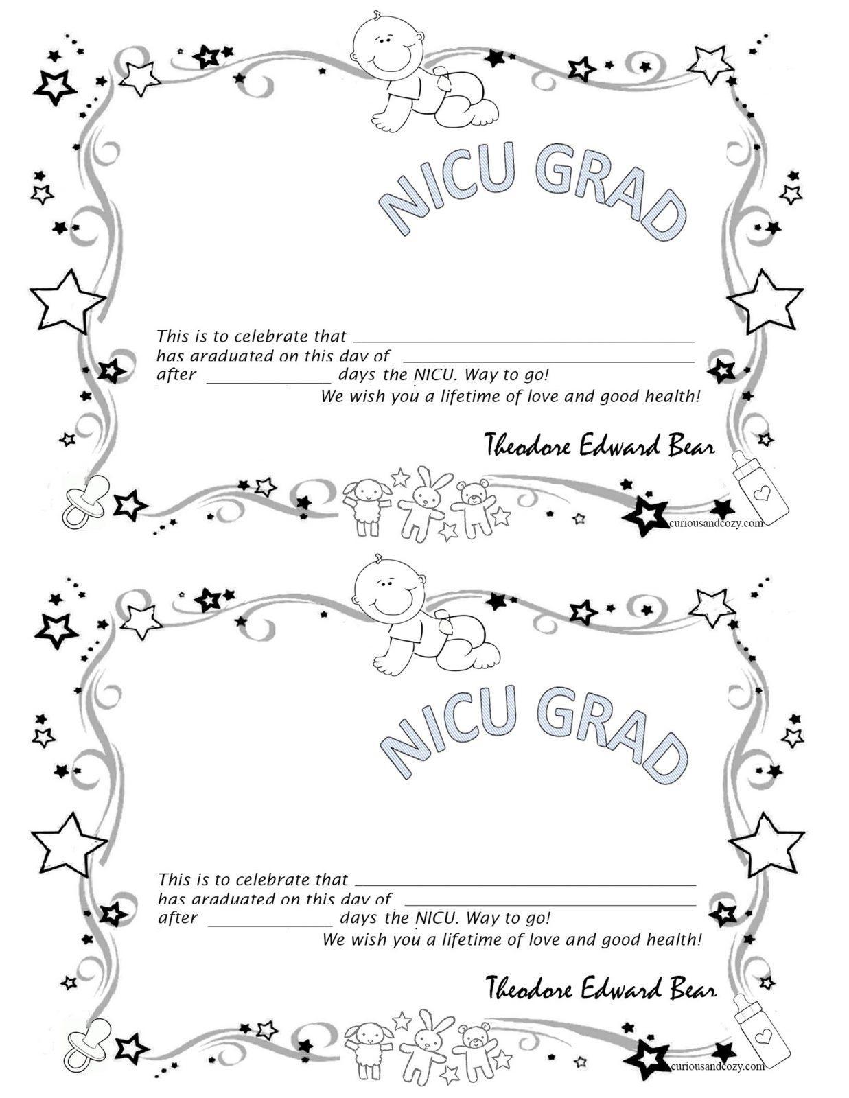 Free Nicu Graduation Certificate