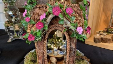 Photo of Charming Fairy Houses at Epcot's International Flower and Garden Festival