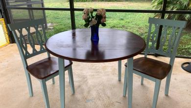 Photo of Our DIY Chalk Paint Beachside Dining Set