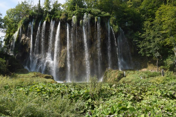 One example of the many waterfalls in Plitvice