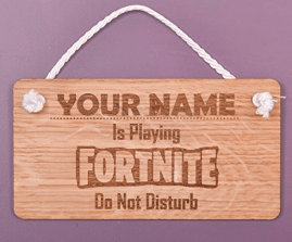Fortnite Gifts for kids - Fortnite personalised hanging sign