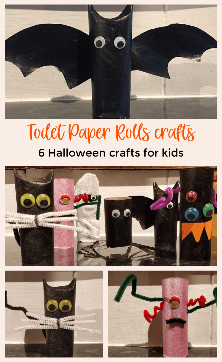 Looking for some easy and cheap ideas for this Halloween: Check out these toilet paper rolls crafts, an easy Halloween craft for kids and adults.
