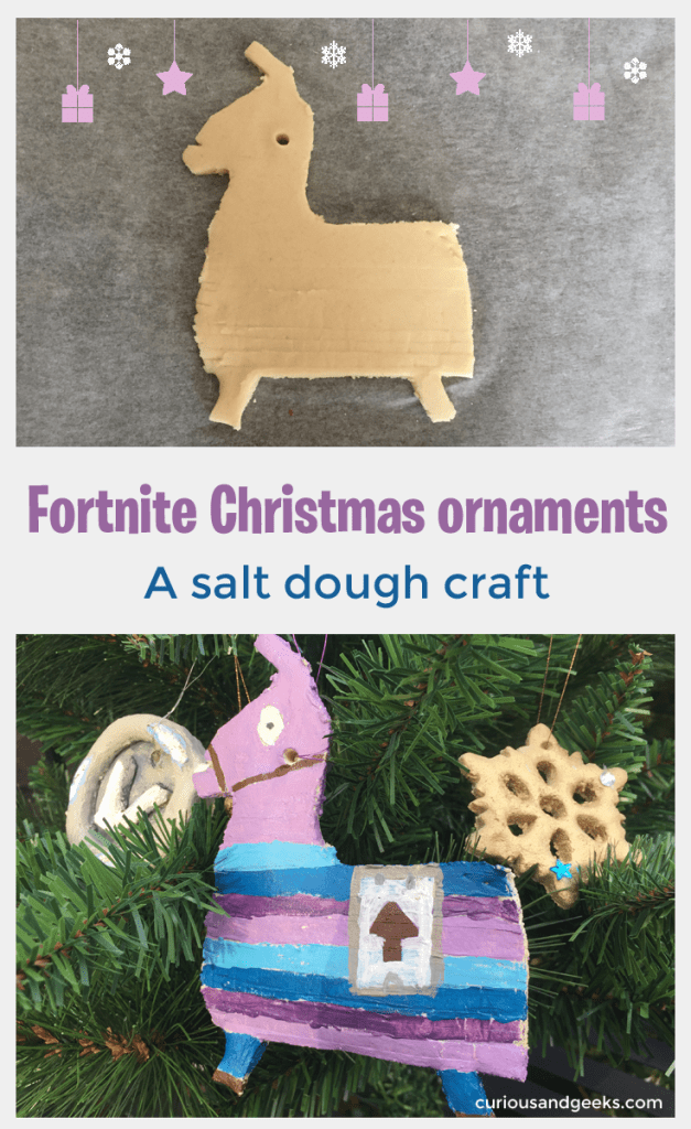 Looking for some Fortnite Christmas ideas for these holidays? Here are two salt dough crafts that will make great Fortnite Christmas ornaments.