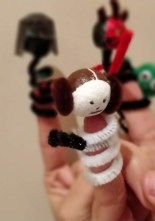 Star Wars Pipe Cleaner Finger puppets - Princess Leia