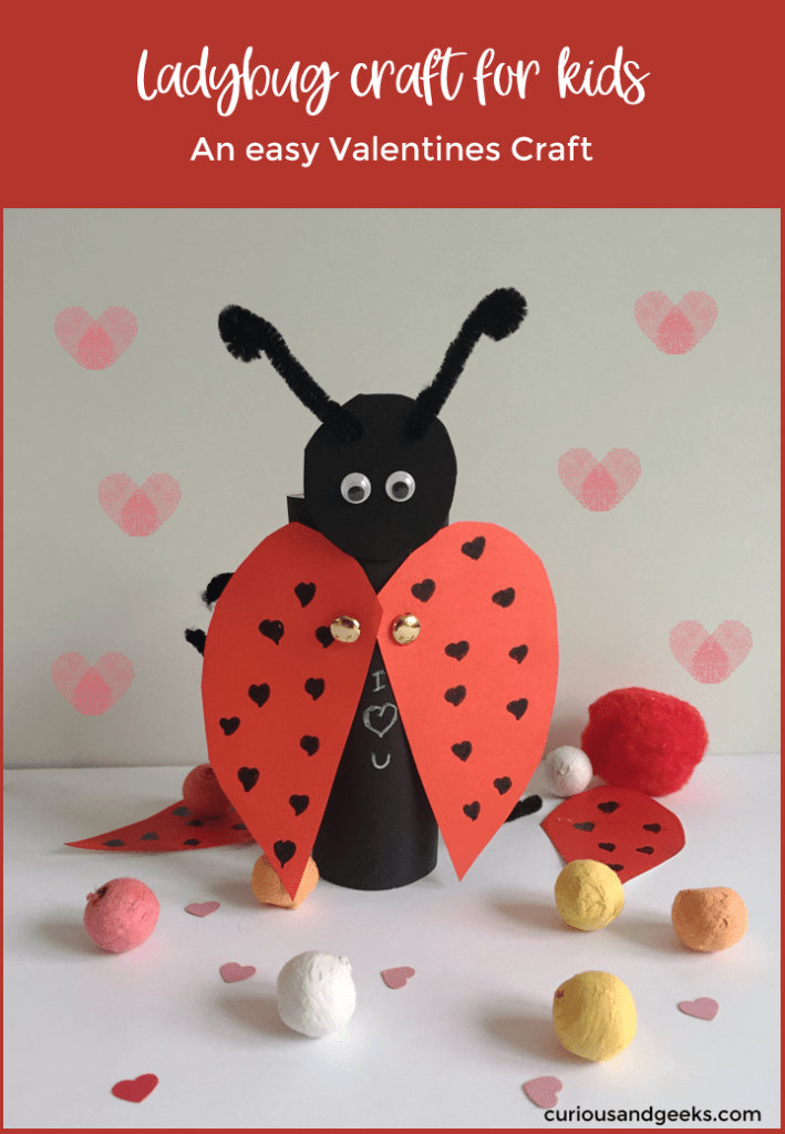 Ladybug craft for kids pin2 - Toilet Paper Roll Ladybug craft for kids