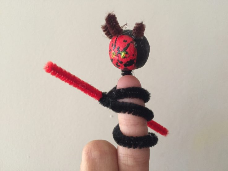 Star Wars Pipe Cleaner Finger puppets - Darth Maul finger puppet
