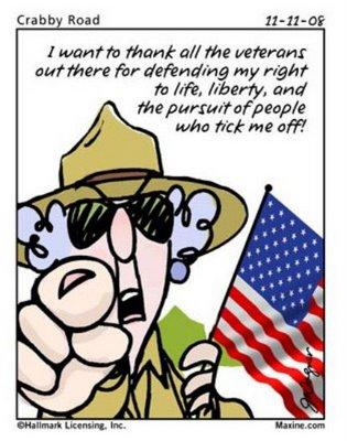 Thank Veterans Cartoon
