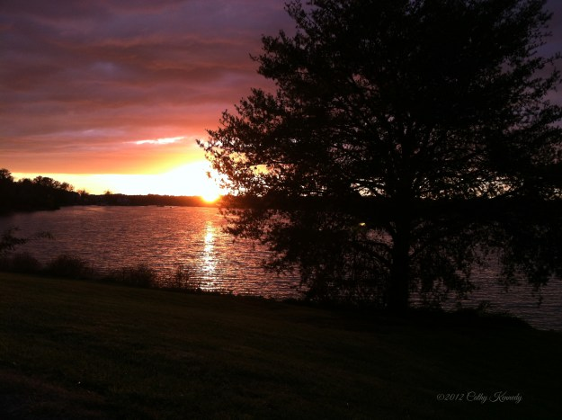 Painted Sky over Fort Loudon Lake (c)2012
