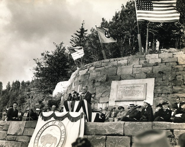 Great Smoky Mountains National Park dedication cermony at Newfound Gap