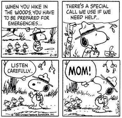 snoopy-calling-mom