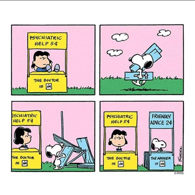 snoopy therapist