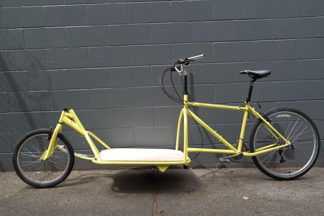 custom long john cargo bike