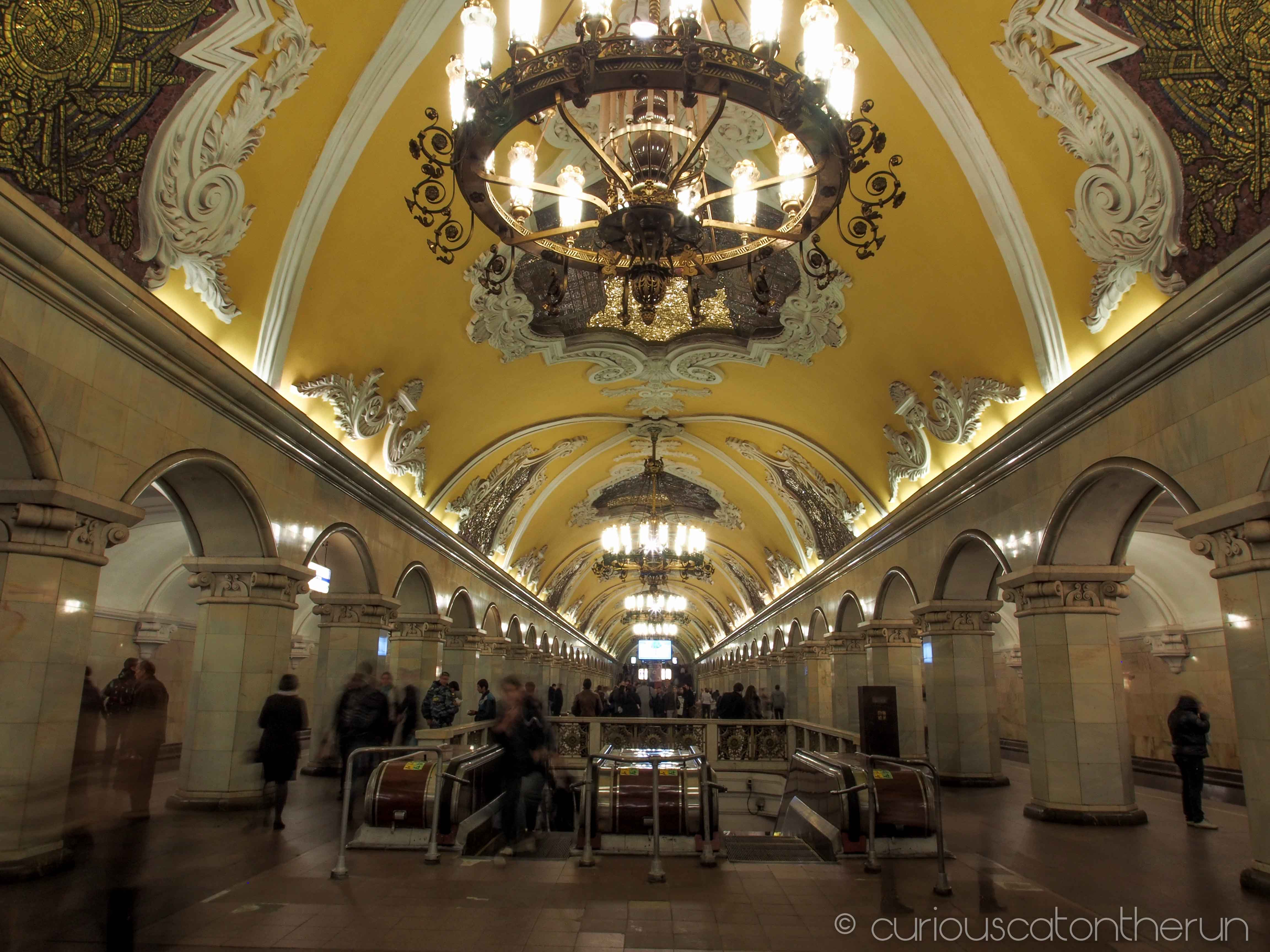Moscow Metro Part 2 Komsomolskaya Kurskaya Mayakovskaya