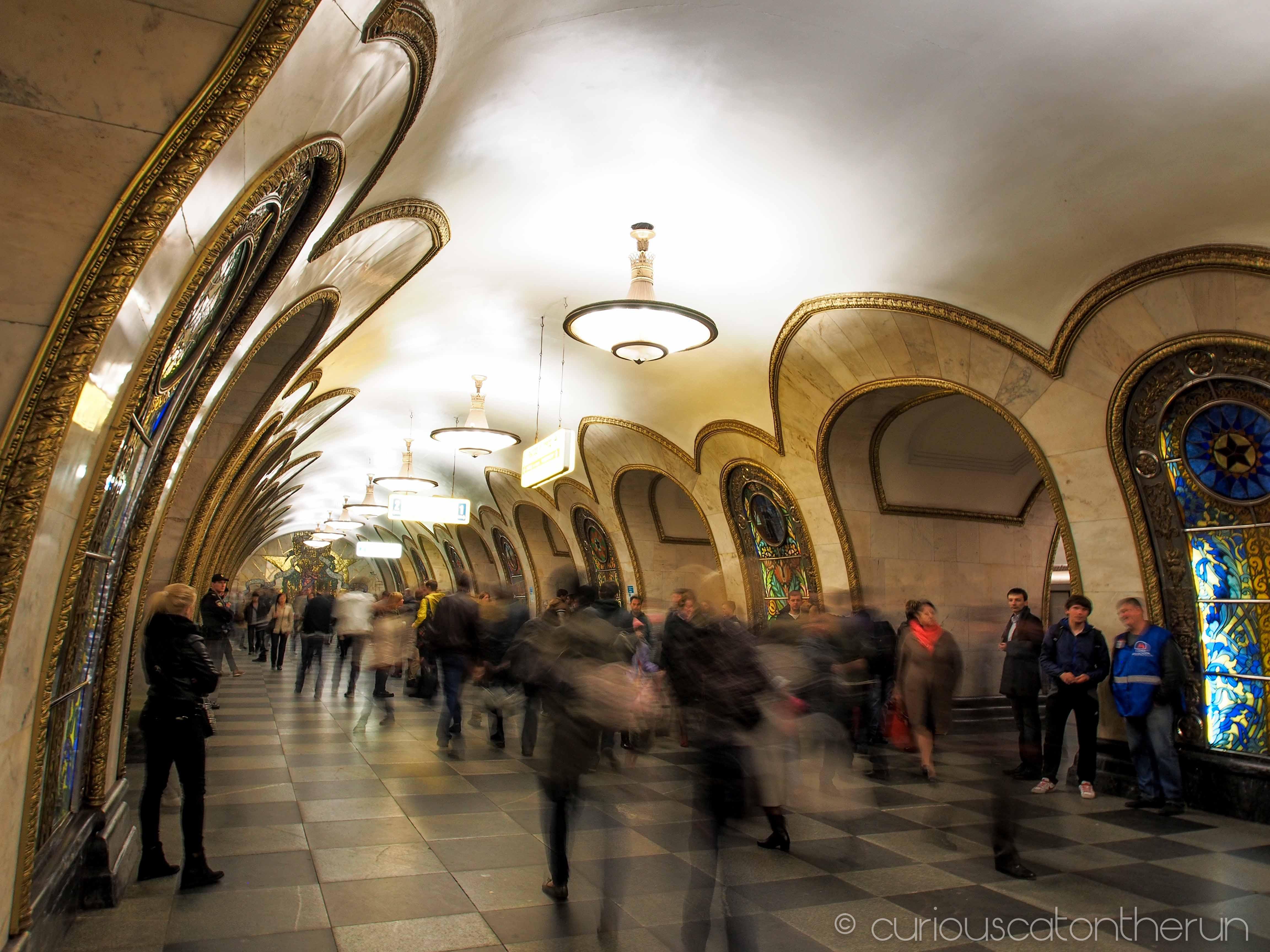 Moscow Metro Part 3 Novoslobodskaya Partizanskaya