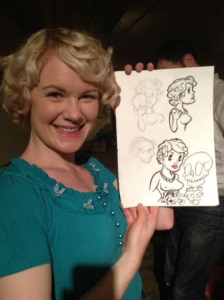 Ava with cartoon