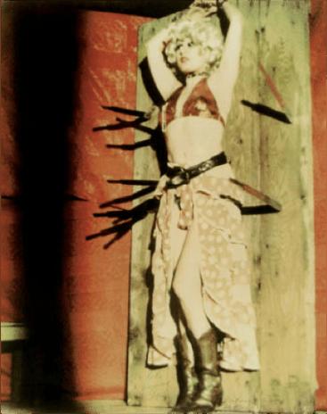 Fig. 16: Katharina Sieverding, Untitled 1975. Offset print on paper from Salto arte, box with multiples, edition in conjunction with the benefit campaign for the magazine POUR, 1975, collection Erhard Klein, Bad Münstereifel © Katharina Sieverding, VG-Bildkunst Bonn © Foto Klaus Mettig, VG-Bildkunst Bonn