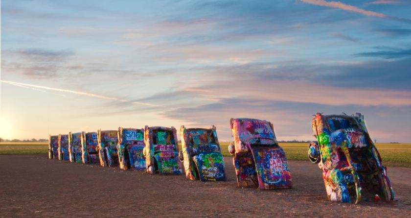 Curious Craig - Sunrise at Cadillac Ranch