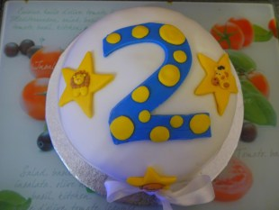Dairy free 2nd birthday cake made by Tizzy Brown