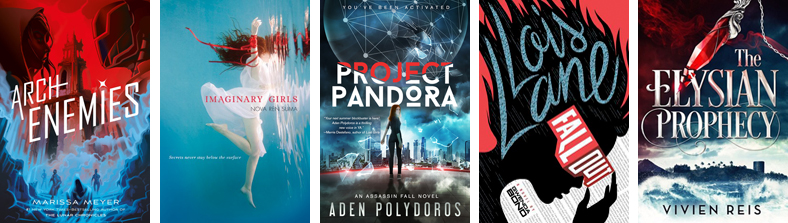 5 red, white and blue book covers