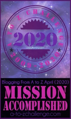 A to Z blogging challenge 2020 winners badge