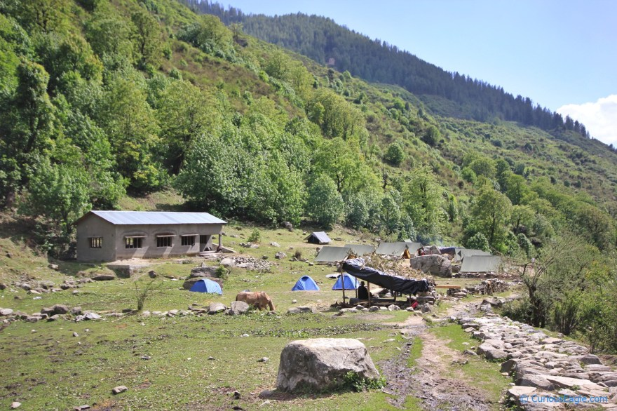 Some trekkers had set up their camps just before Seema