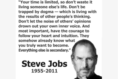 Limited time and living life - Steve Jobs Quote