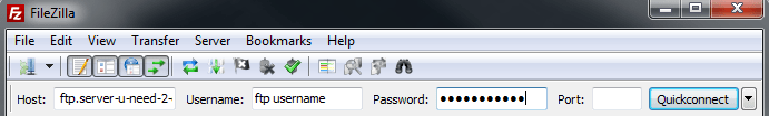 FileZilla Options For BlueCoat