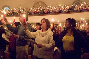 The annual Christmas Lovefeast celebration took place in Wait Chapel on Dec. 4.