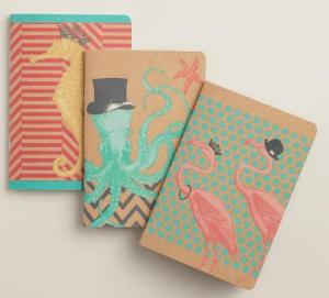sea creature notebooks
