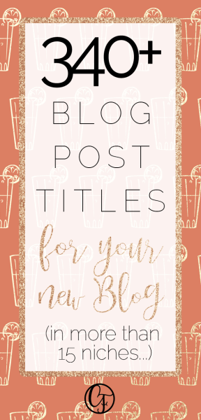 340 plus awesome blog post ideas for your new blog! Starting a blog? Then use this post to help you write your first few blog posts - because a successful post needs a catchy title! #blogging #bloglife #blog #blogtips