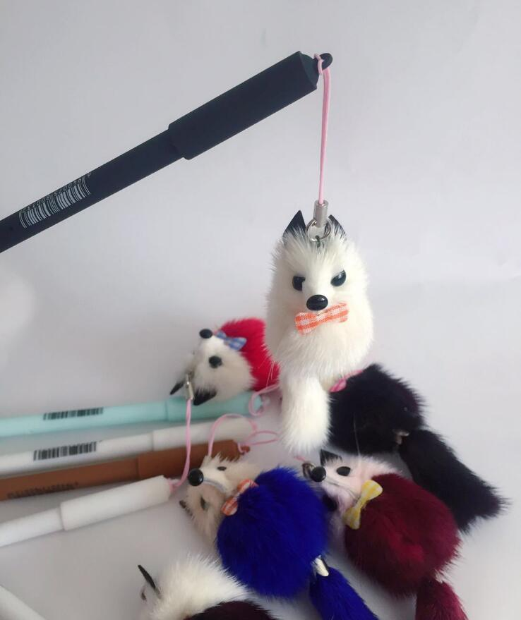 Cute fox pen with fluffy fox charm #foxlover #weheartfoxes #afflink