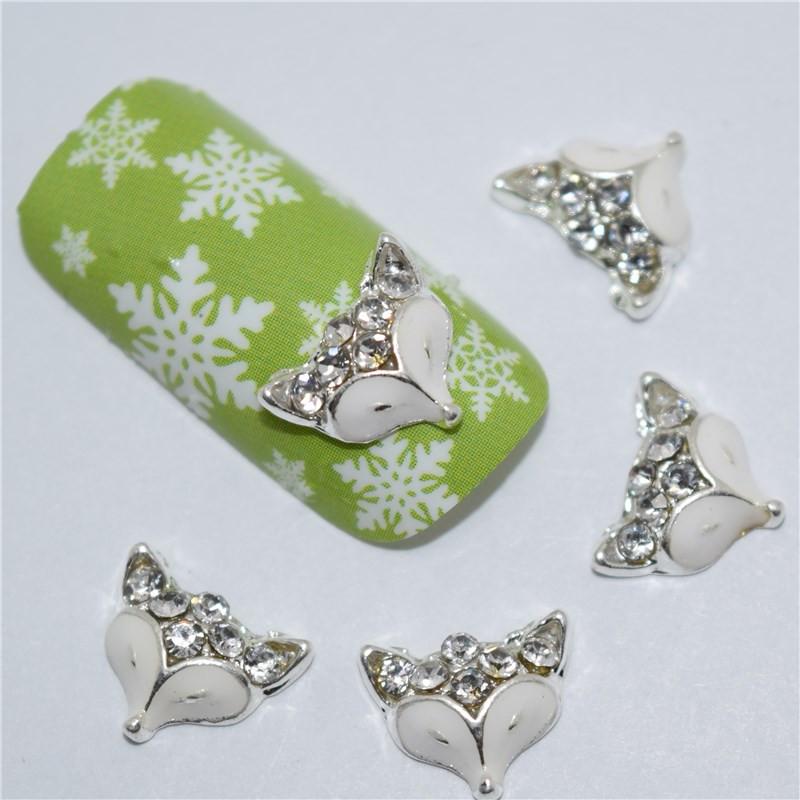 Fox gem nail art appliques - #foxlover #foxnails #nailart #afflink