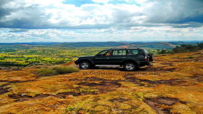 a jeep in rolling hills and phenomenal colors, shapes and patterns from the flowers, the grass and the remarkable moss and lichen.. Only nature can provide these wonders in Zimbabwe