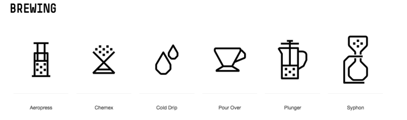 Image of different styles of brewing coffee at Padre Coffee in best coffee in Noosa