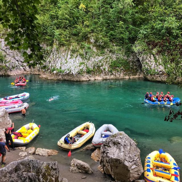 Crew rafting day in Montenegro The water colour and clarityhellip